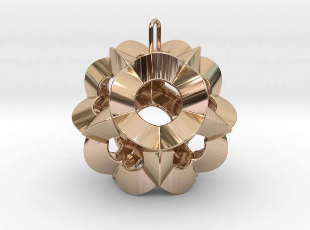 Pendant-c-6-5-30-90-p1o in 14k Rose Gold Plated Brass