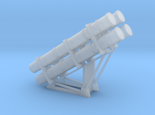 1:96 scale Harpoon Launcher - loaded in Smooth Fine Detail Plastic