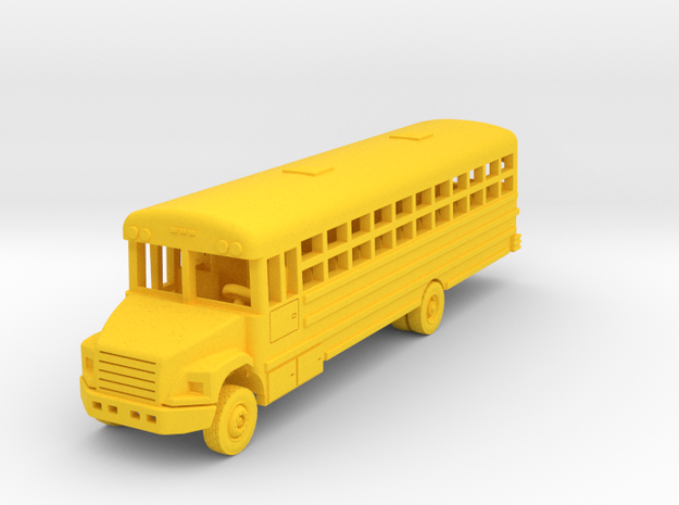 Thomas 45 Passenger Bus in Yellow Processed Versatile Plastic: 1:144