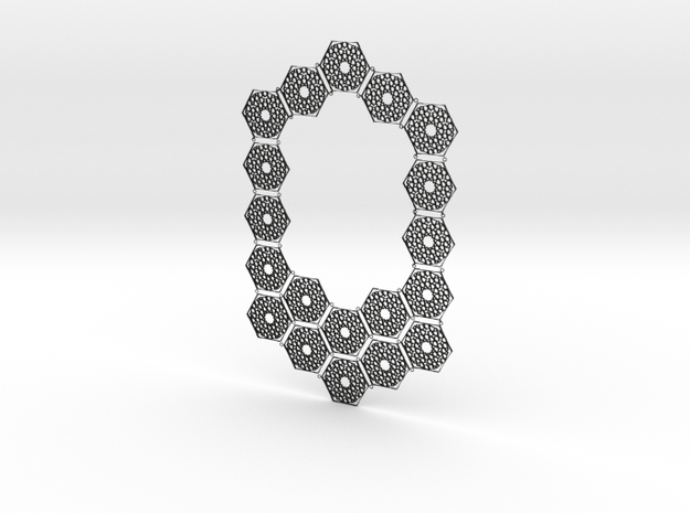 J&M Islamic Inspired Geometric Full Necklace in Black Natural Versatile Plastic