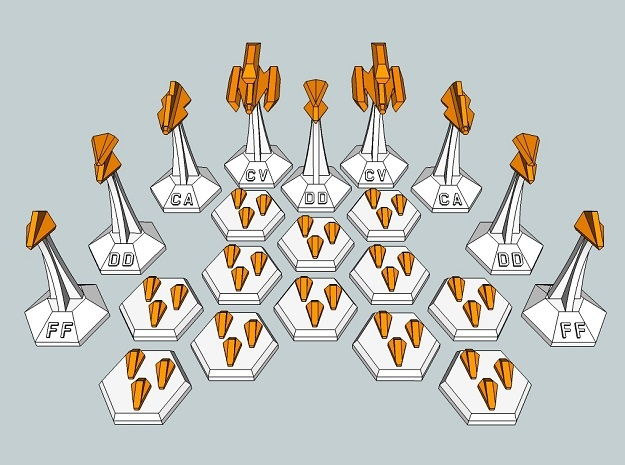 MicroFleet Webbian Carrier Group (21pcs) in White Strong & Flexible