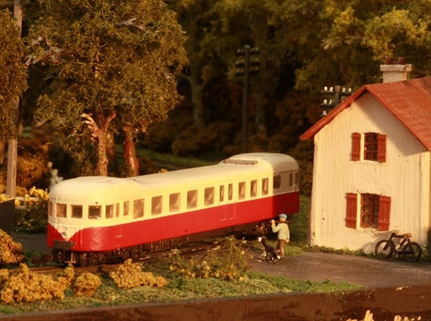 Decauville Autorail - DXW Nm 1:160 in Smooth Fine Detail Plastic