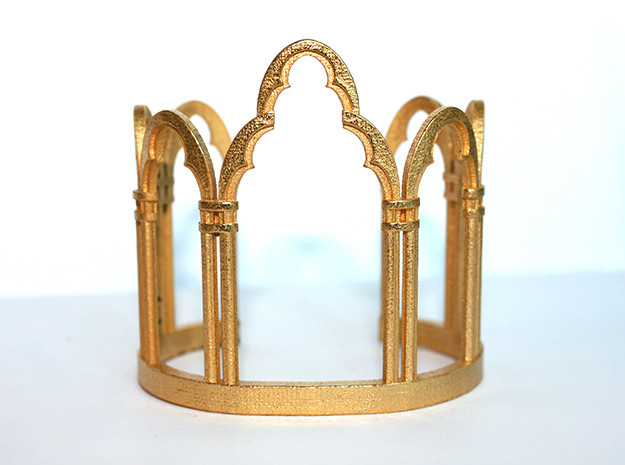 Venetian Window in Polished Gold Steel