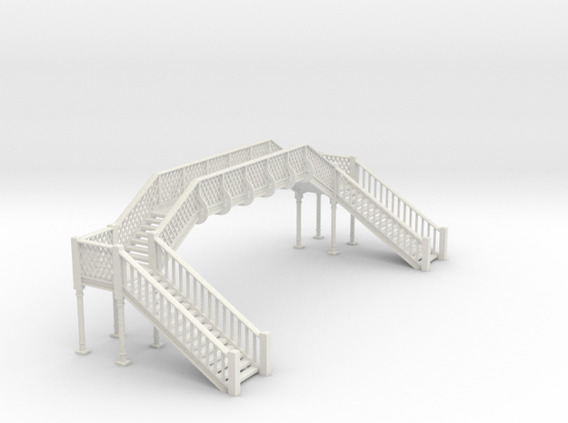 Lattice Footbridge OO Scale in White Natural Versatile Plastic