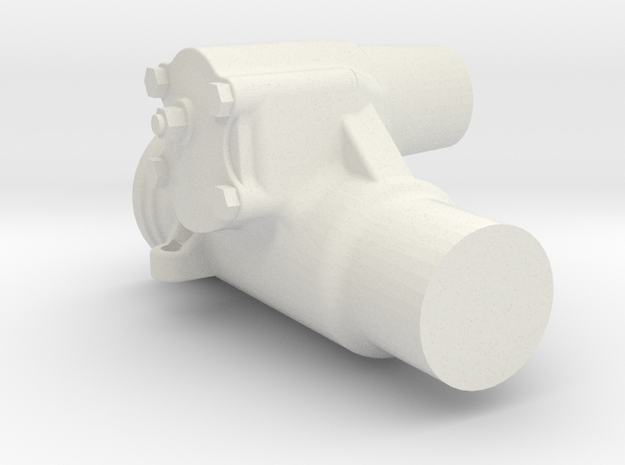 1/6 Scale Saginaw Steering Box in White Strong & Flexible