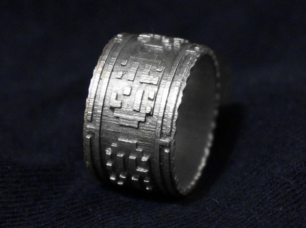 The Wanderer (Ring) 3d printed Silver