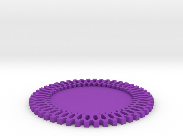 Maker Coaster in Purple Processed Versatile Plastic