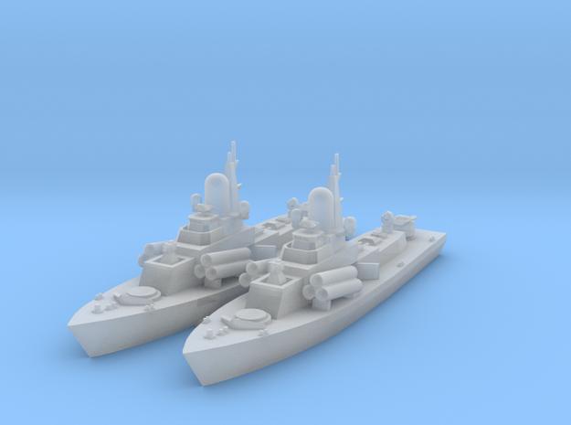 1/1250 Nanuchka Soviet Missile Corvette X 2 3d printed