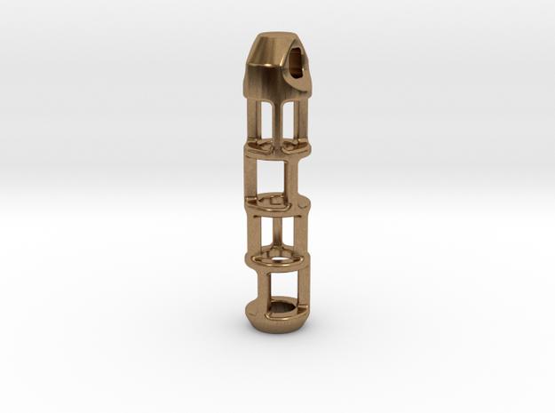 Tritium Lantern 2B (Silver/Brass/Plastic) 3d printed