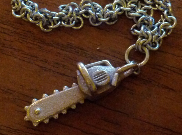 Army of Darkness / Evil Dead Chainsaw charm in White Strong & Flexible
