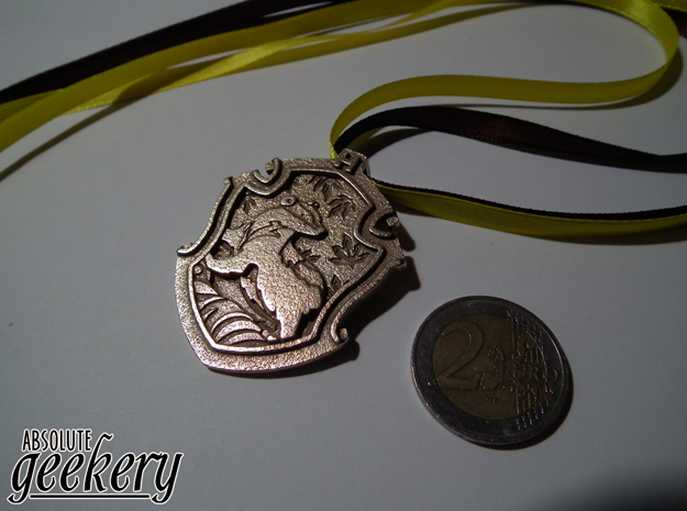 Hufflepuff House Crest - Pendant SMALL