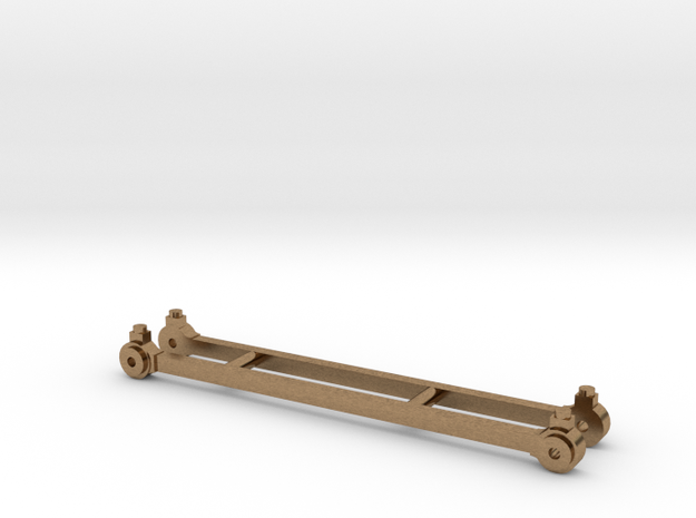 Coupling rods for North Staffordshire Railway B cl in Natural Brass