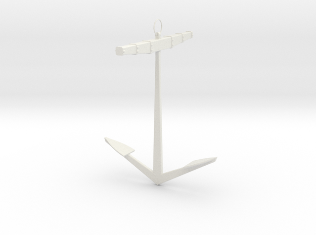 XVII-XIX century Anchor scale 1:24 in White Natural Versatile Plastic