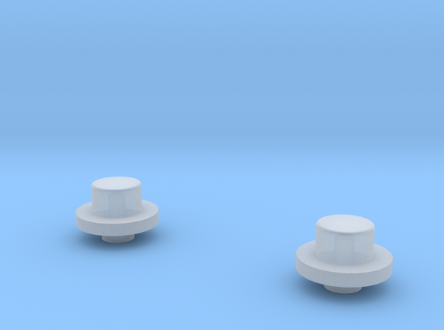1/64 FWA front Hubs in Smooth Fine Detail Plastic