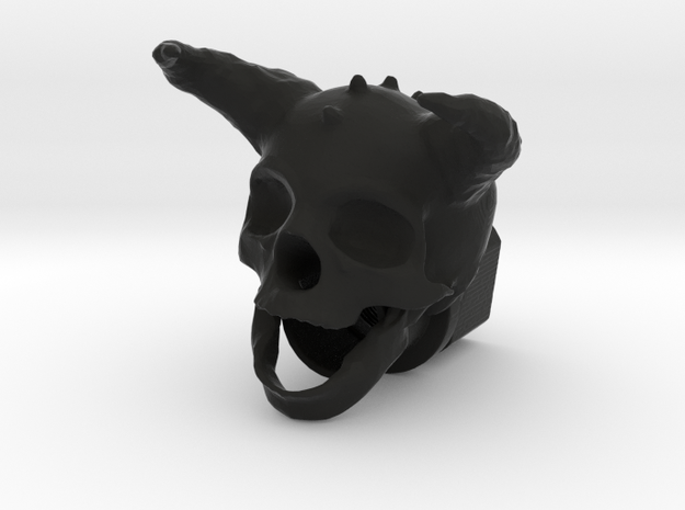 Horned Skull BarrelEnd 14 CCW in Black Strong & Flexible