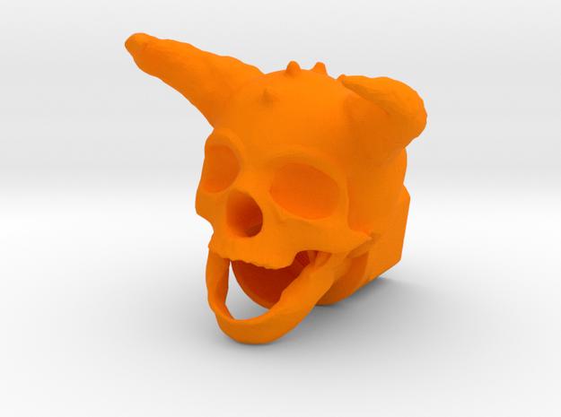 Horned Skull BarrelEnd 14 CCW
