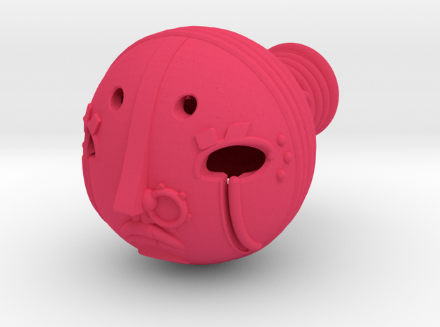 Sharkpasha's Head in Pink Processed Versatile Plastic