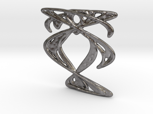 Pendant III in Polished Nickel Steel
