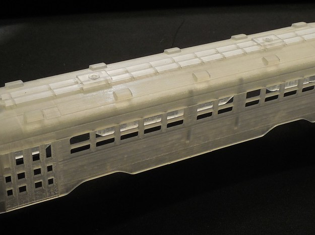 HO MUNI Double-End PCC Trolley Body in Smooth Fine Detail Plastic