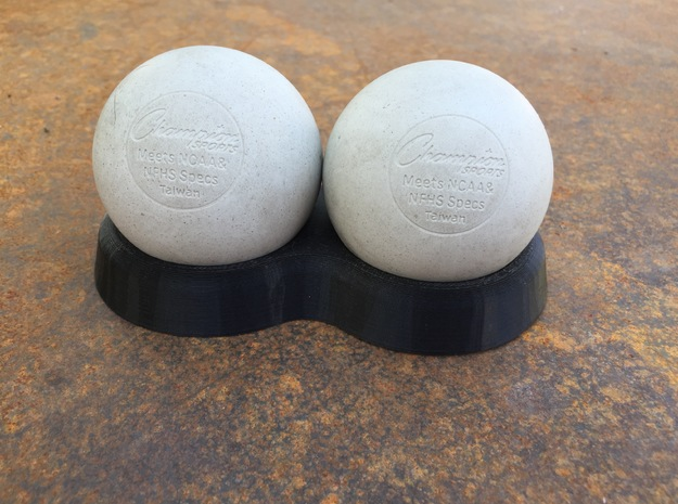 Lacrosse Ball Holder in White Strong & Flexible Polished