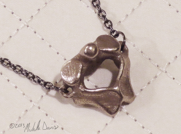 Anatomical Vertebra Axis (C2) Pendant in Stainless Steel