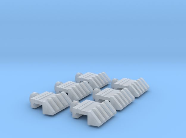 Picatinny Angled Scaled 6x in Smooth Fine Detail Plastic