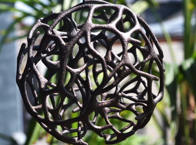 Unique Abstract Ornament  in Polished Bronze Steel
