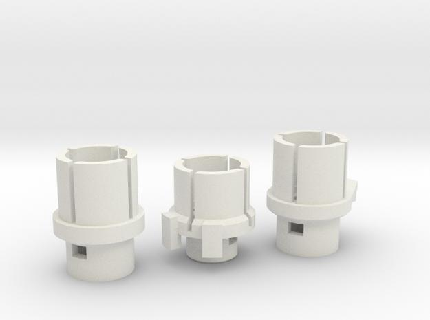 VW T5 Heater Control Adaptor 2003-2007 in White Natural Versatile Plastic