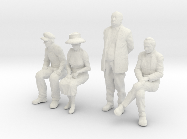 1:48 scale 4 figure pack WS in White Natural Versatile Plastic