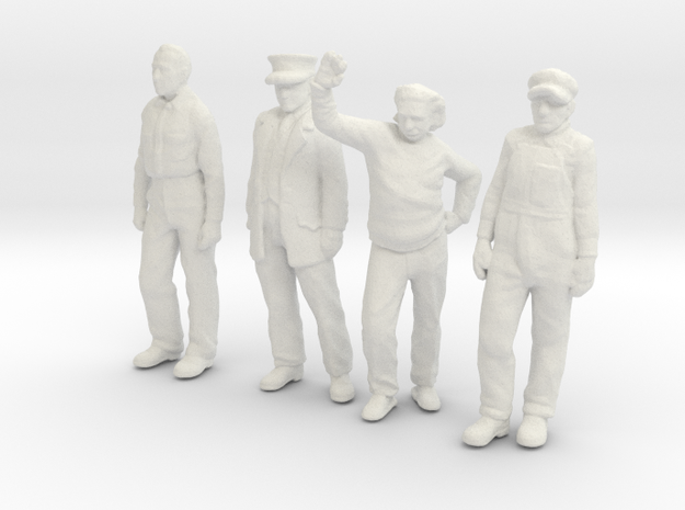 1:48 scale Standing figure pack WS in White Natural Versatile Plastic