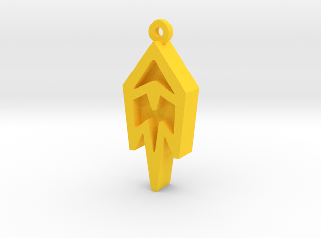 Unova Pendant [Freeze] in Yellow Processed Versatile Plastic