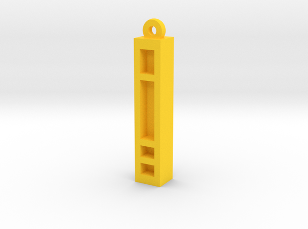 Unova Pendant [Basic] in Yellow Processed Versatile Plastic