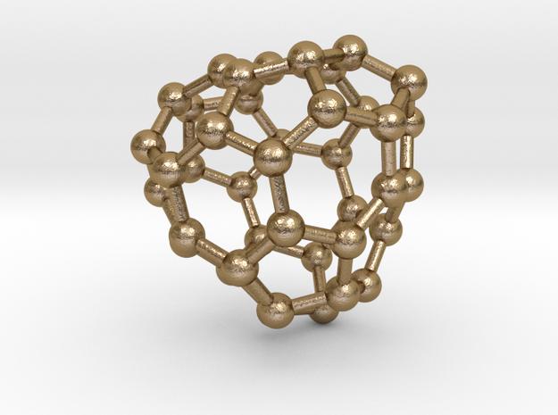0142 Fullerene C40-30 c3 in Polished Gold Steel