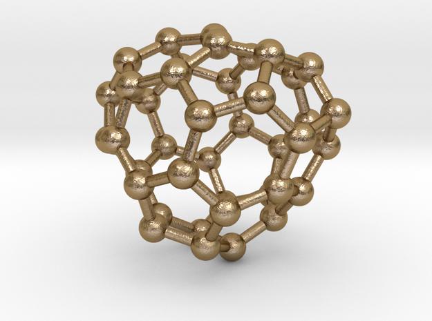 0141 Fullerene C40-29 c2 in Polished Gold Steel