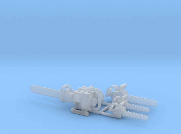 Chainsaws Group 2, O Scale in Smooth Fine Detail Plastic