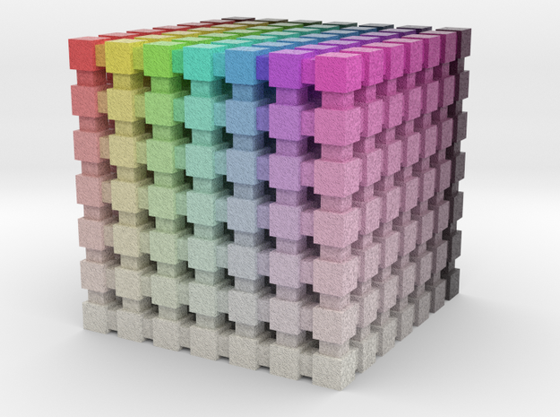 HSV/HSB Color Cube: 1 inch in Full Color Sandstone