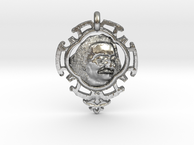 Meher Baba Amulet in Raw Silver