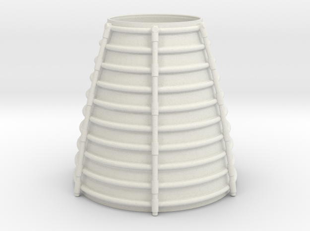 3d Shuttler Engine Cone Arc in White Natural Versatile Plastic