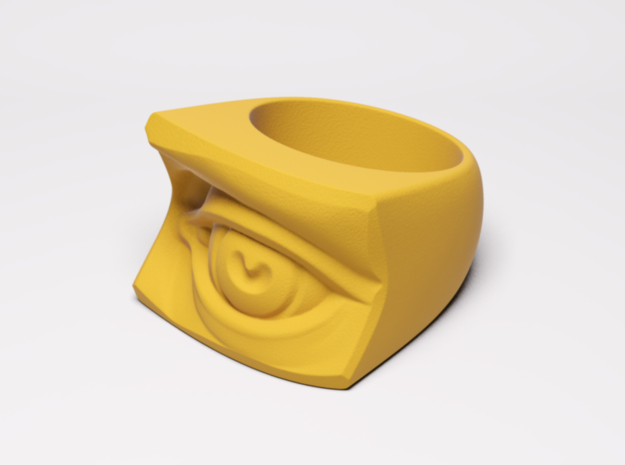 David's Eye Ring in Yellow Strong & Flexible Polished