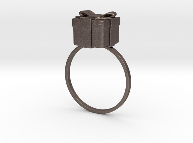 Christmas Box Ring 01 3d printed