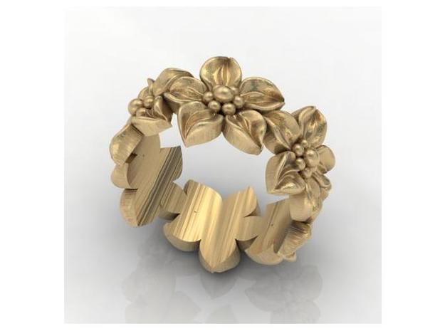 Flower Ring Size 7 3d printed