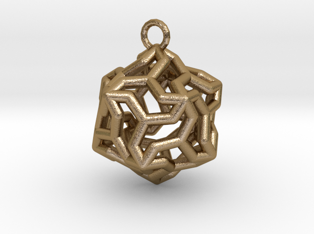Platonic-5 in Polished Gold Steel