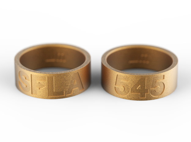 SFLA / 545 (size 9.5) in Polished Gold Steel