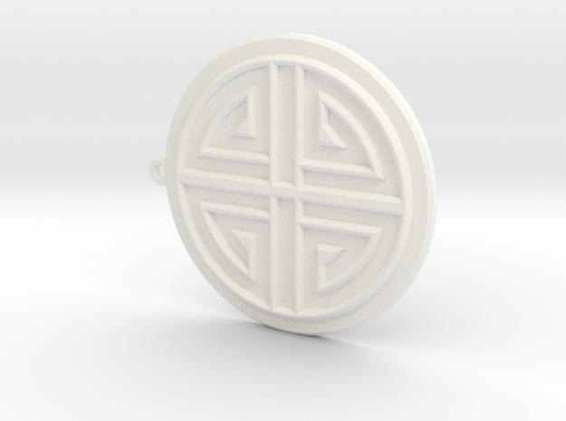 Sumaksae Pendant in White Processed Versatile Plastic