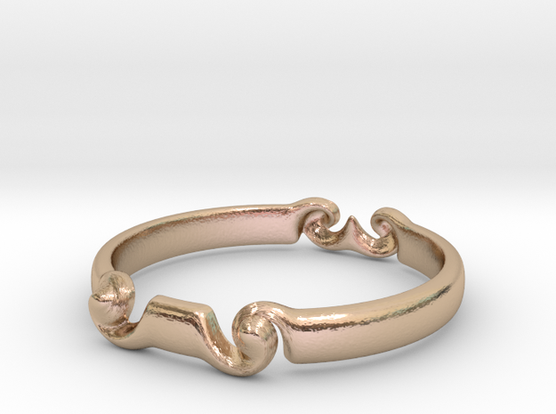 Spiral ring(size = USA 5.5)  in 14k Rose Gold Plated