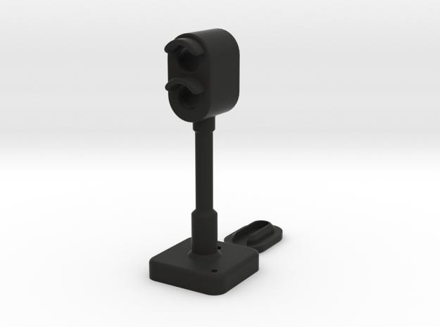 OO Signal Light for Model Railways in Black Strong & Flexible