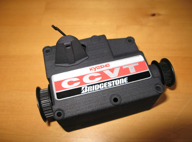 Top Half Of Kyosho Nitro 1/9 scale CCVT Gearbox RV 3d printed
