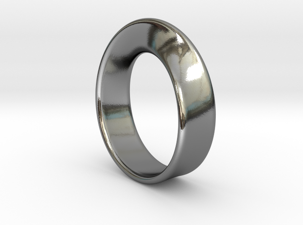Moebius Ring - reference in Fine Detail Polished Silver