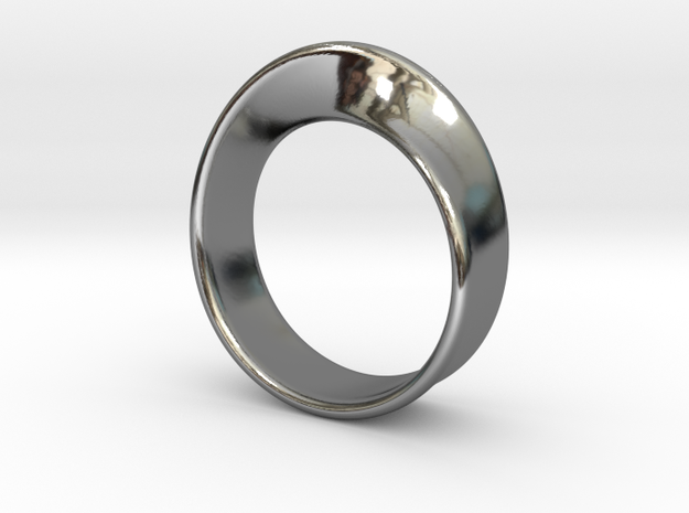 Moebius Ring 18.0 in Fine Detail Polished Silver