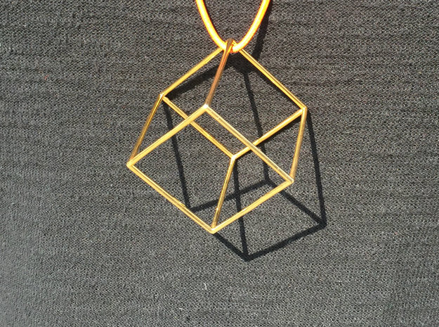 Cube in 18k Gold Plated